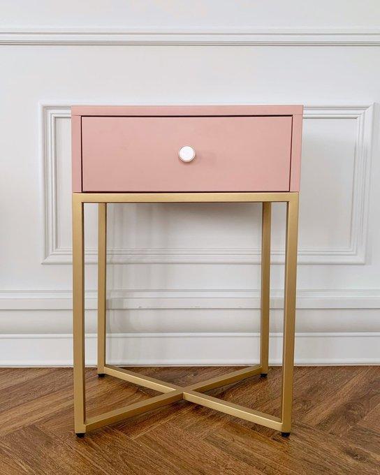Тумба Пэри с ящиком розового цвета