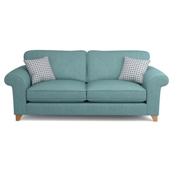 Трехместный диван Angelic бирюзовый