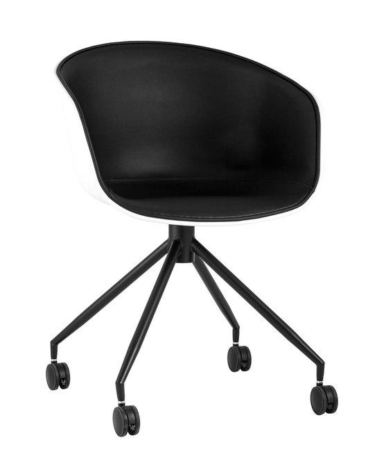 Кресло офисное Libra черно-белого цвета