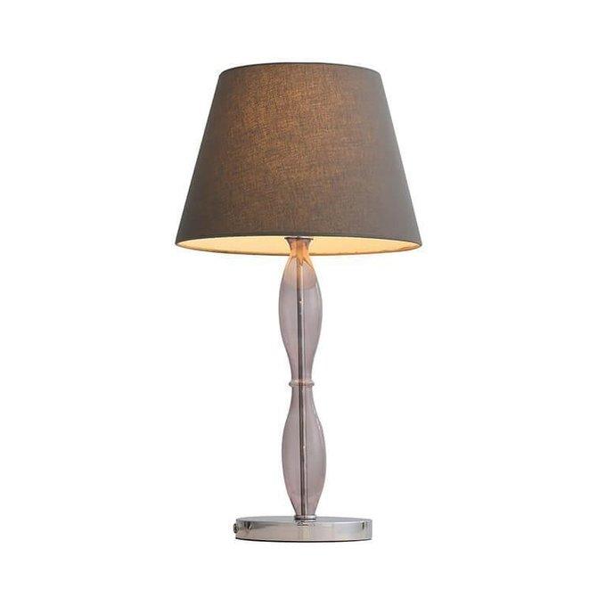 Настольная лампа c абажуром коричневого цвета