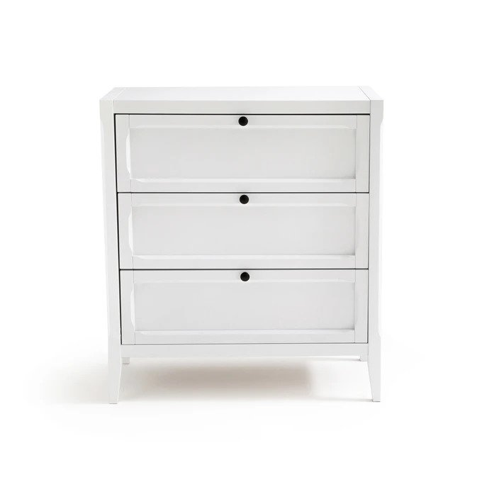 Комод Eugnie белого цвета с тремя ящиками