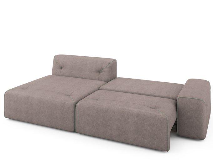 Угловой раскладной  диван Portu левый бледно-розового цвета