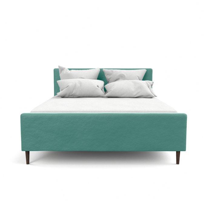 Двухспальная кровать Кристина бирюзового цвета 160х200