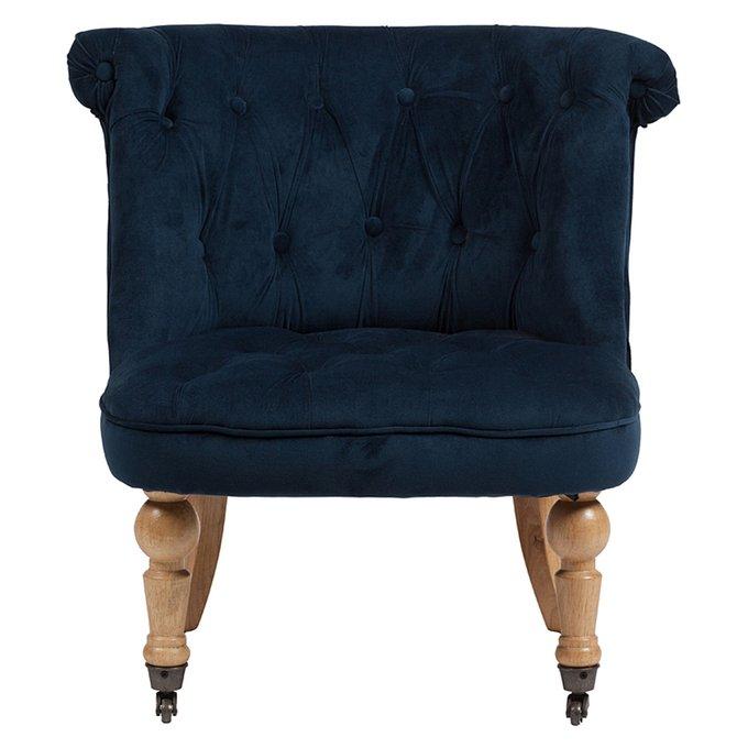 Кресло Amelie French Country Chair темно-синего цвета