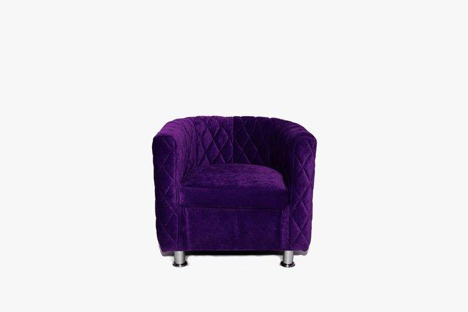Кресло Космос с отстрочкой фиолетового цвета