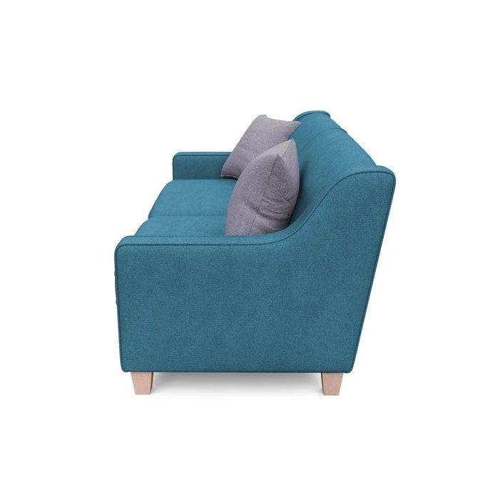 Трехместный диван Агата L синего цвета