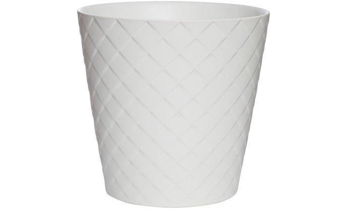 Кашпо керамическое белого цвета