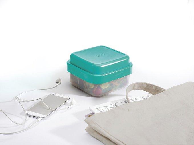 Ланч-бокс для салатов компактный GoEat с крышкой изумрудного цвета