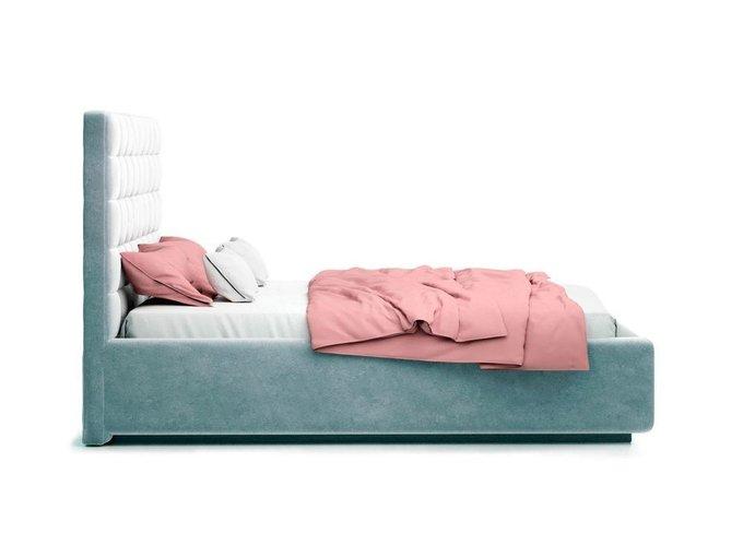 Кровать Vita серого цвета с ортопедическим основанием 160х200