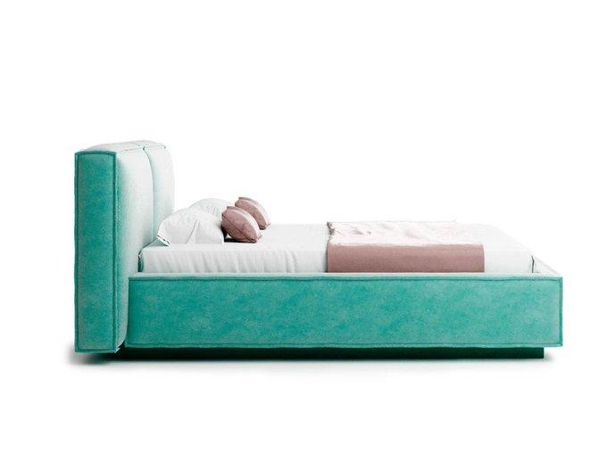 Кровать Verde мятного цвета с ортопедическим основанием 160х200