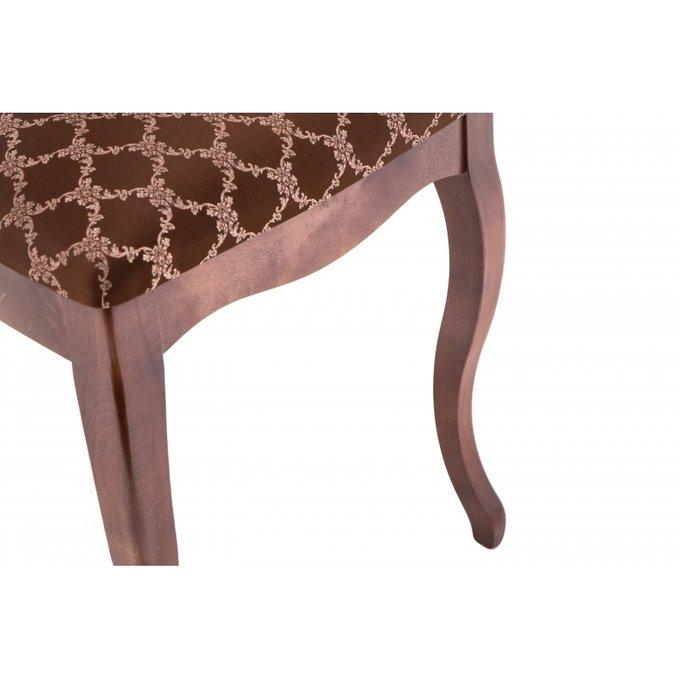 Обеденный стул Фабиано с обивкой шоколадного цвета