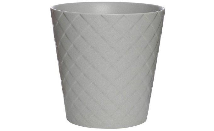 Кашпо керамическое серого цвета
