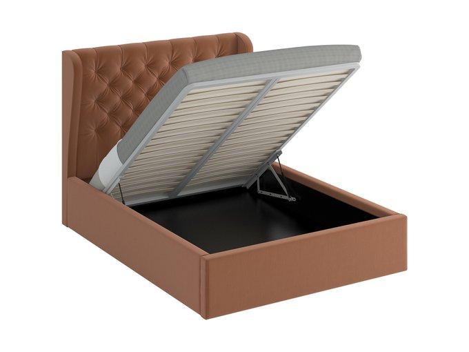 Кровать Jazz Lift коричневого цвета 160х200