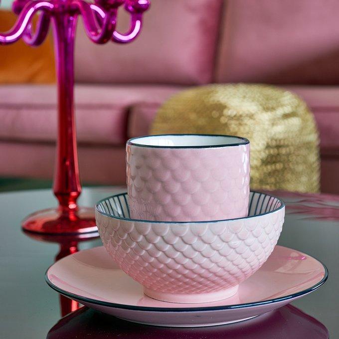 Набор из четырех десертных тарелок Plates color scales
