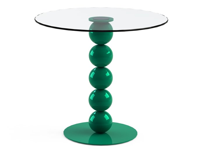 """Обеденный стол """"BLINTER Green"""" со столешницей из закаленного стекла"""