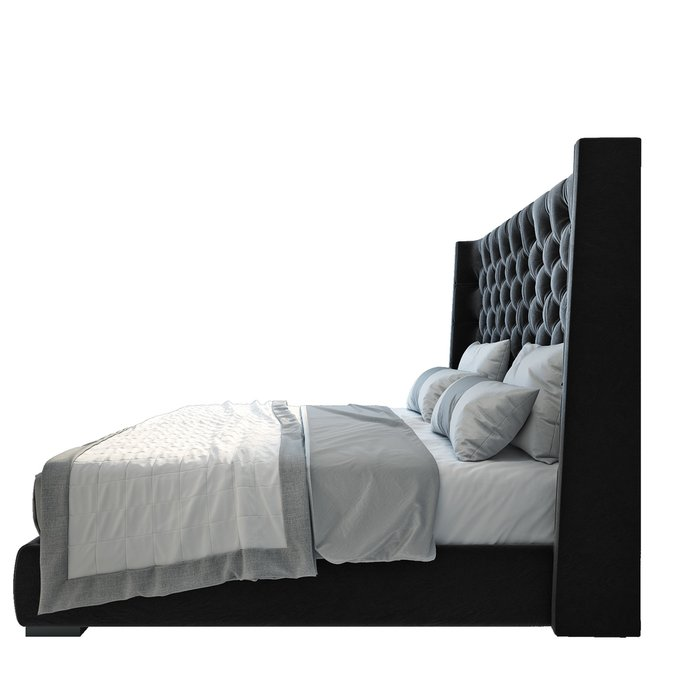 Кровать Jackie King Велюр Черный 180х200
