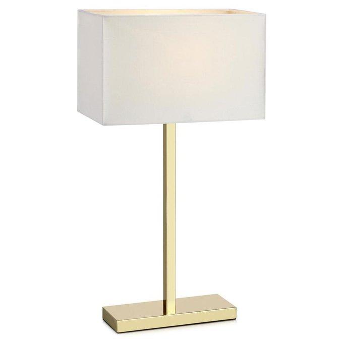 Настольная лампа Savoy с белым абажуром