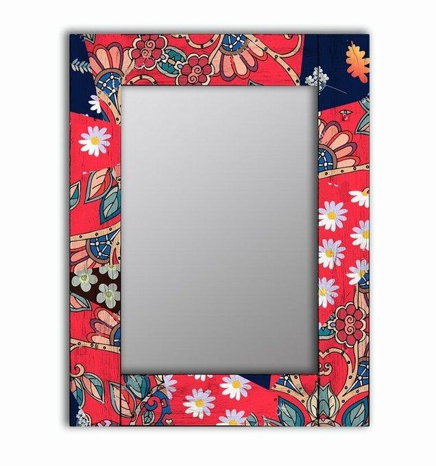 Настенное зеркало Август в раме из массива сосны 65х65