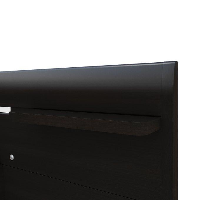Кровать Илона 160х200 темно-коричневого цвета с подъемным механизмом