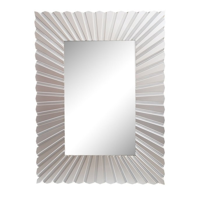 Серебряное настенное зеркало Albergo