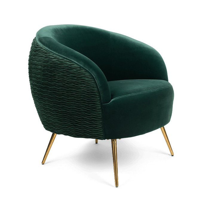 Кресло So Curvy темно-зеленого цвета