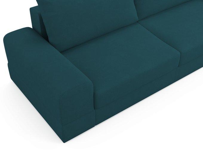 Диван-кровать Elke сине-зеленого цвета