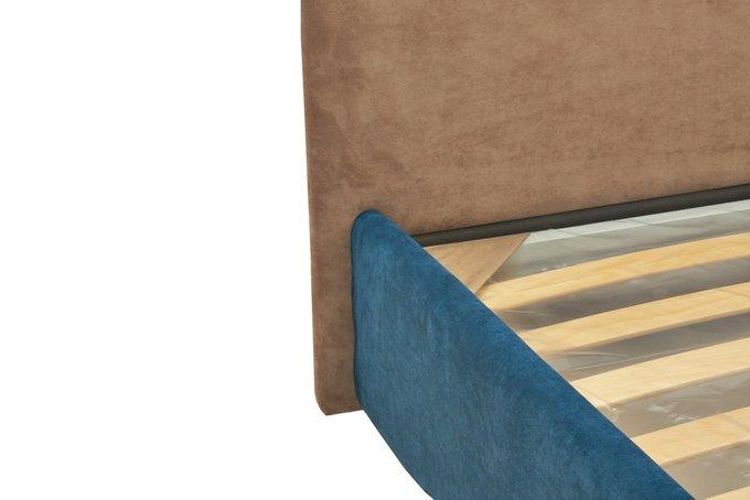 Кровать Армистис с коричневым изголовьем 140х200