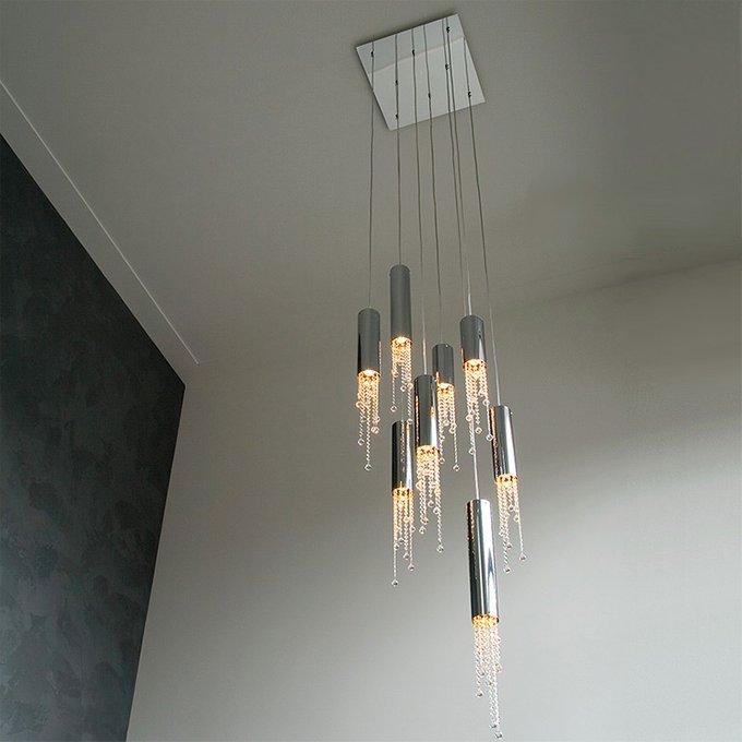 Подвесной светильник Ilfari Sexy Crystals из хромированного металла