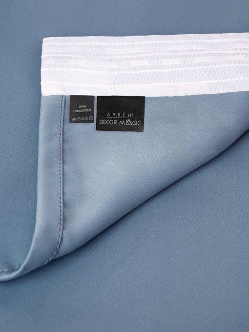Штора Блэкаут Blue 170х270 синего цвета