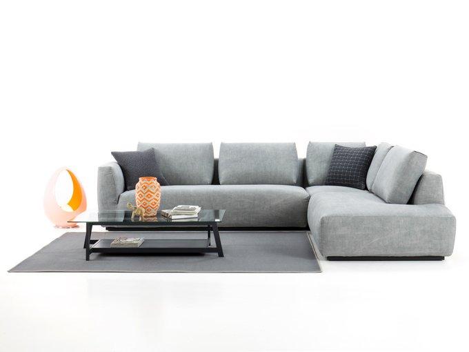 Угловой диван Морбида angolo серого цвета