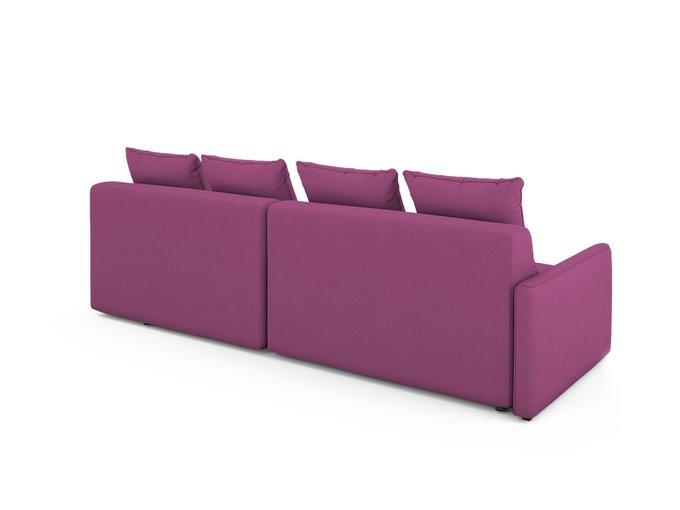 Угловой Диван-кровать Bronks правый пурпурного цвета