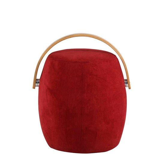 Пуф Koopman Wood красного цвета