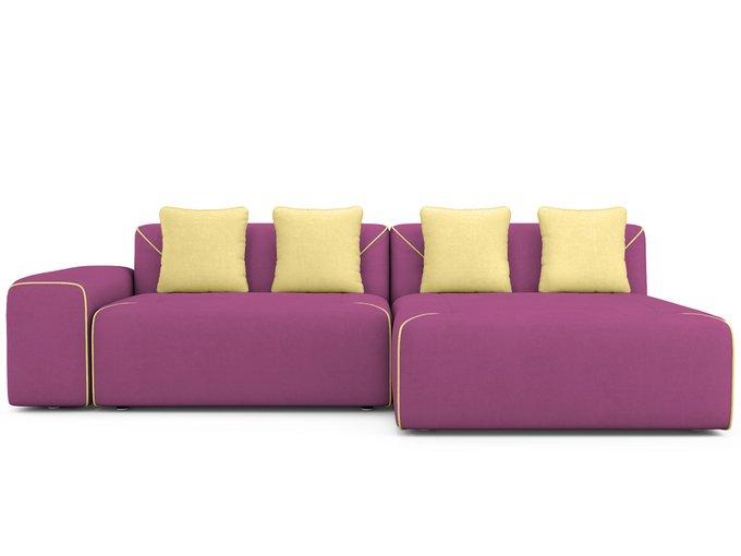 Угловой Диван-кровать Portu правый пурпурного цвета