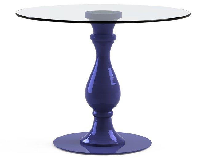 """Обеденный стол """"ADVENTUS Blue"""" со столешницей из закаленного стекла"""