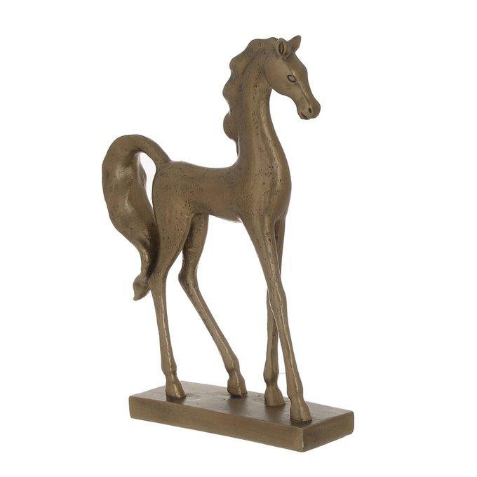 Статуэтка Лошадь золотого цвета