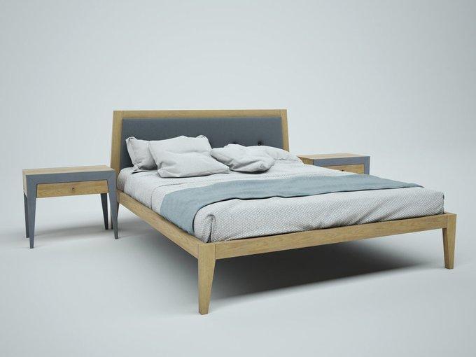 Кровать Fly new из массива дуба 200х200