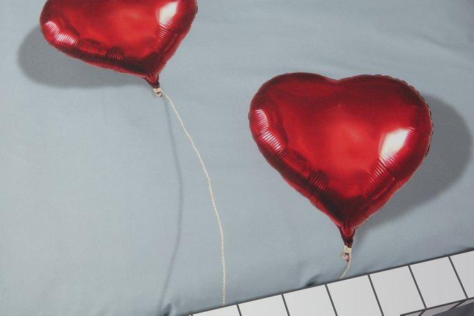 Комплект постельного белья Сердце в облаках 200х220