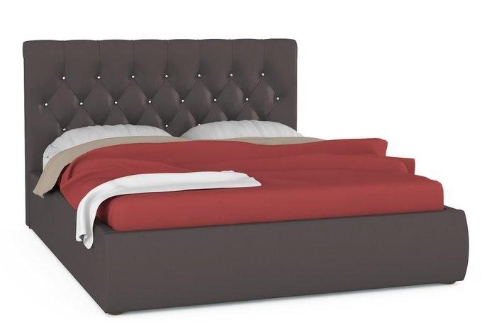 Кровать Тиффани коричневого цвета с подъемным ортопедическим основанием 160х200