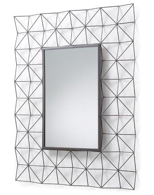 Зеркало Julia Grup HABITA прямоугольное металлическое темно-серое