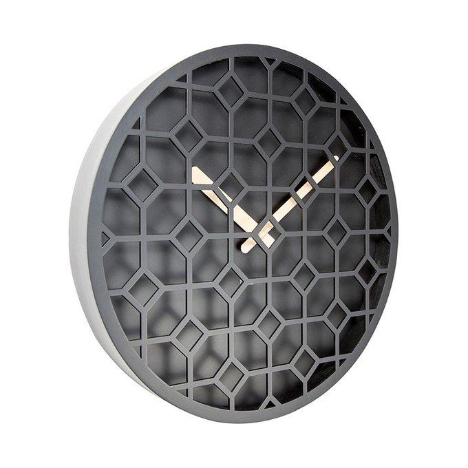 Настенные часы Discrete черного цвета