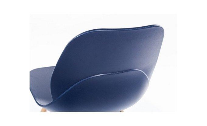 Стул Фэйт с пластиковым сидением синего цвета