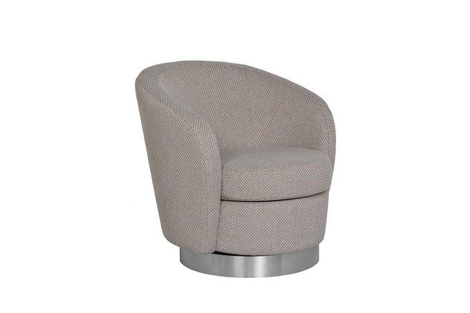 Кресло вращающееся серого цвета