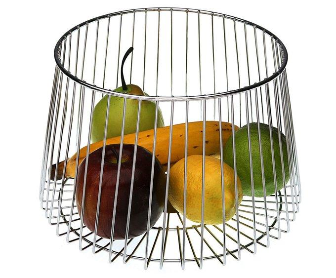 Ваза для фруктов Chrome из стали