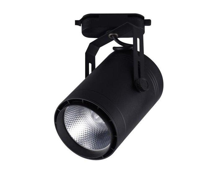 Трековый светодиодный светильник Треки черного цвета