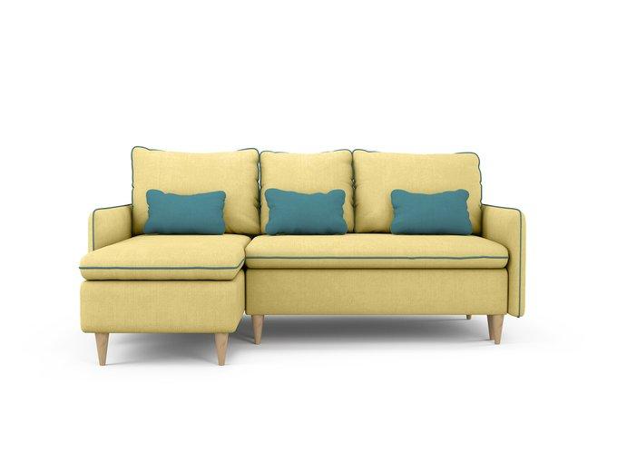 Диван-кровать Ron левый желтого цвета