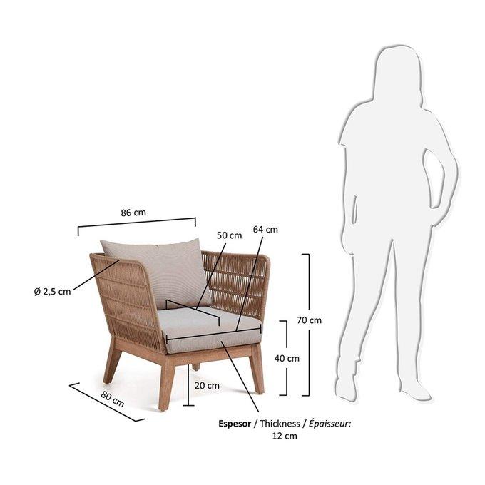 Кресло BELLANO  акация