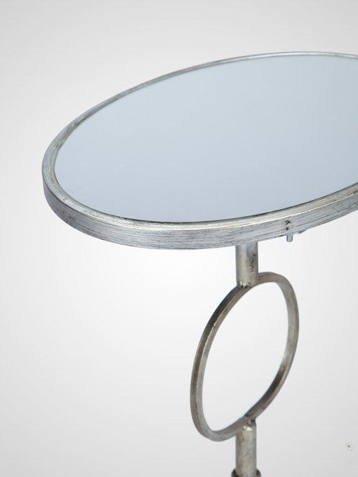 Журнальный Столик овальный со стеклом