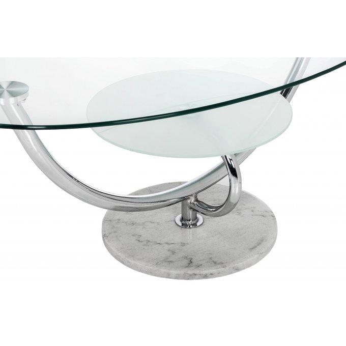 Журнальный стол Globe 1 со стеклянной столешницей