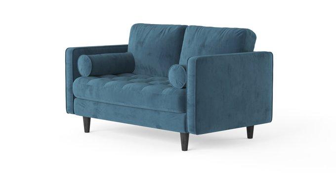 Двухместный раскладной диван SCOTT голубой