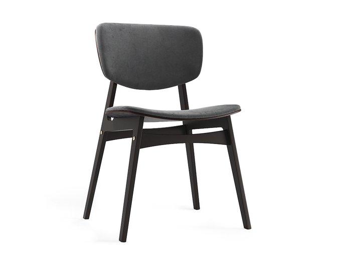 Мягкий стул Sid тёмная берёза / кофейный
